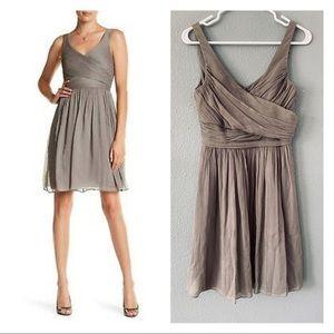 J Crew gray Heidi Dress Silk Chiffon event dress 2